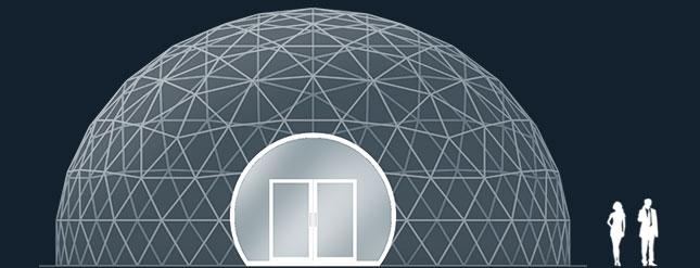 Модель GeoTenso GeoDome 200м2