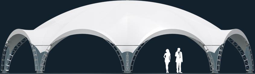Модель ArcoTenso Octagonal 309м2