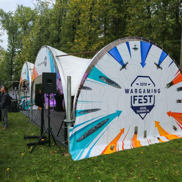 Брендированная конструкция для Wargaming Fest 2019